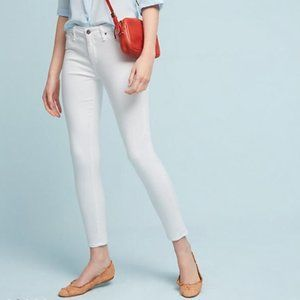 AG White The Abbey Mid-rise Super Skinny Ankle